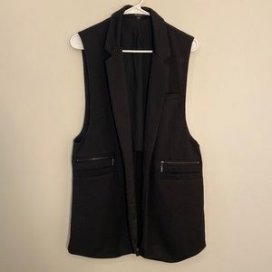 Guess | Long Black Blazer Vest Size L